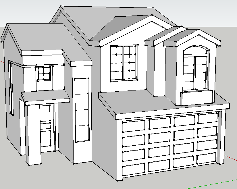 Suburban House Help Required Sketchup To Blender
