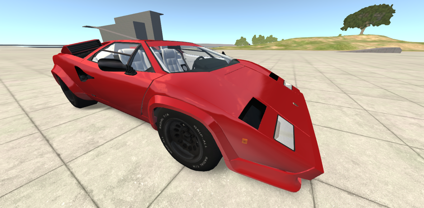 Outdated Lamborghini Countach Beamng