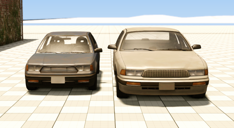 Gavril grand marshal beamng both cars match the real dimensions of similar real life cars honda civic ford crown victoria almost exactly the covet looks bigger because its closer sciox Images