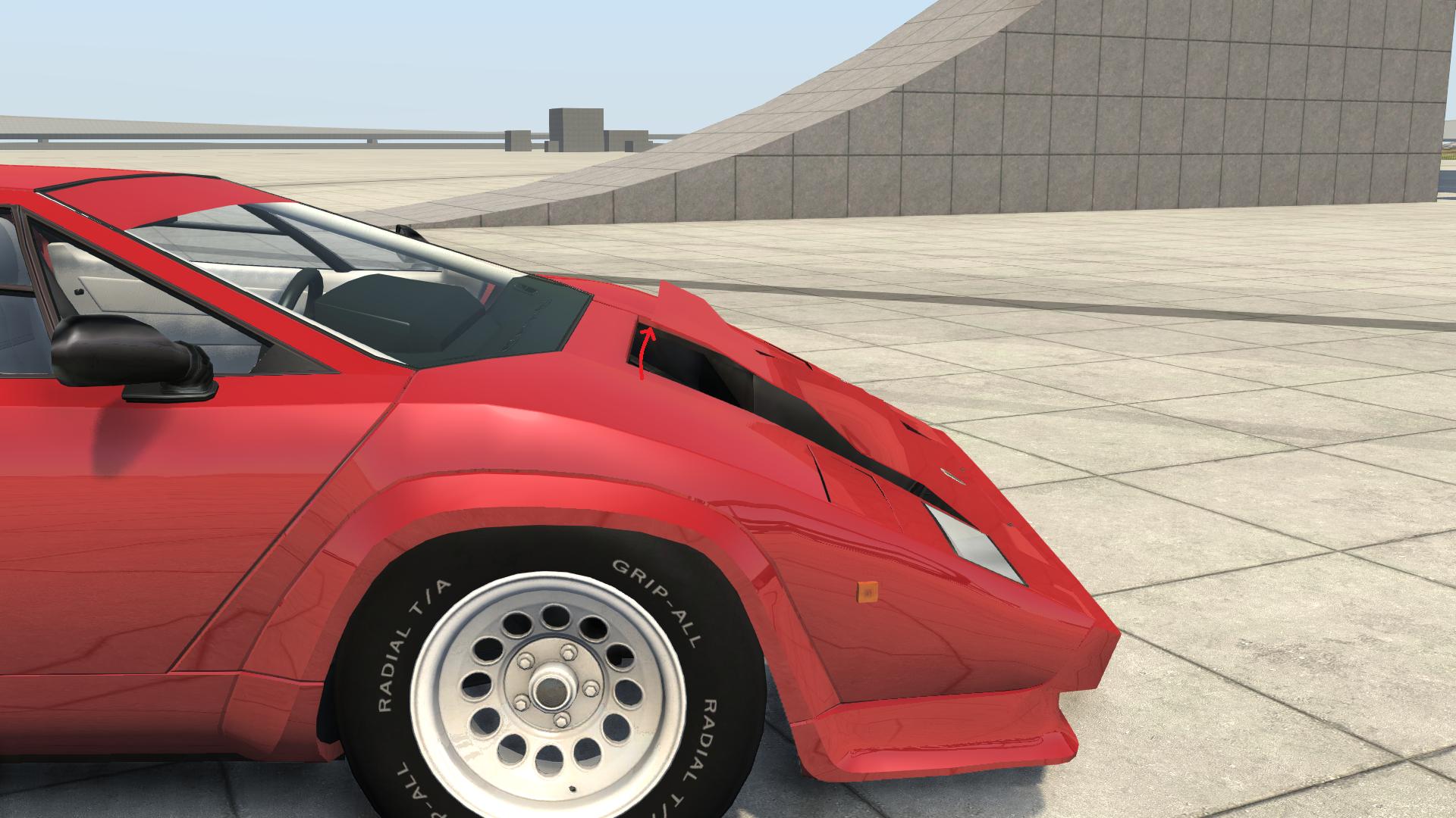 Outdated 1985 Lamborghini Countach 500 Quattrovalvole V6 Super