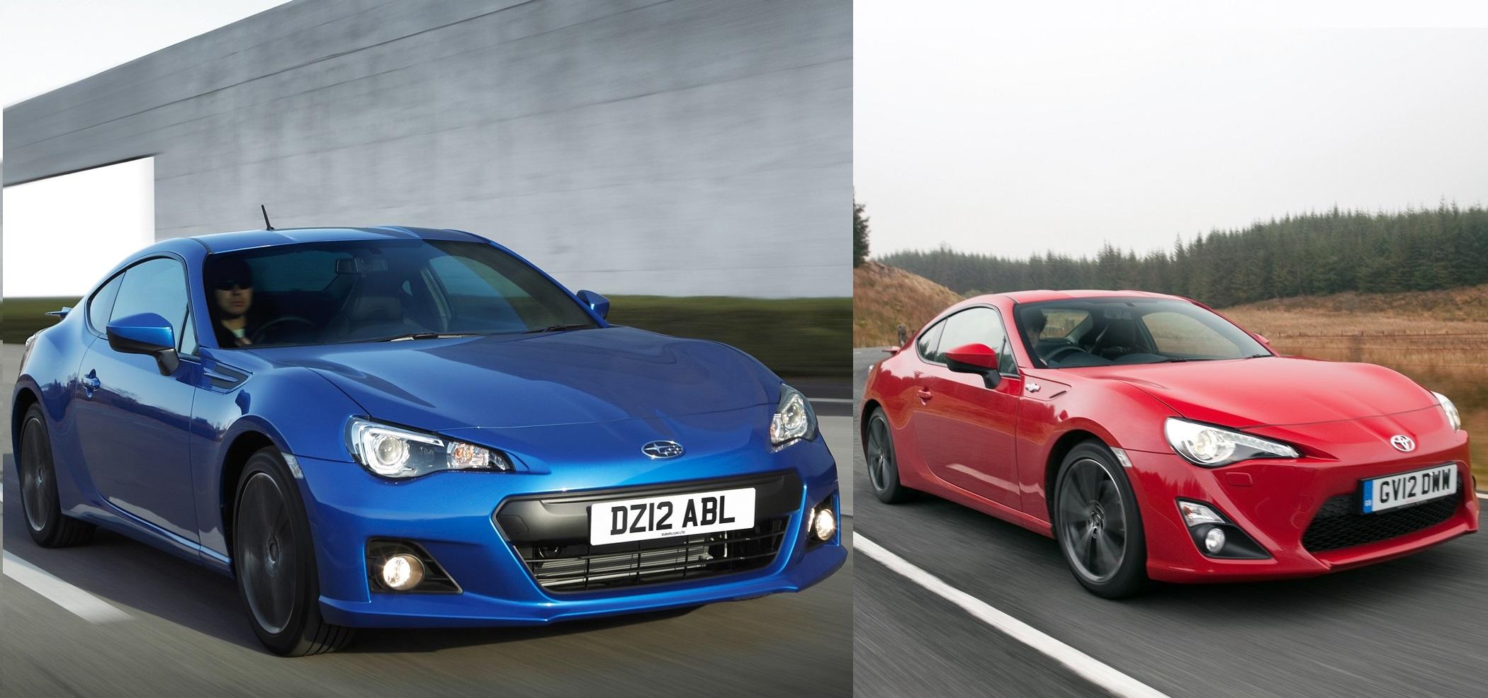 Subaru brz vs toyota gt86 jpg