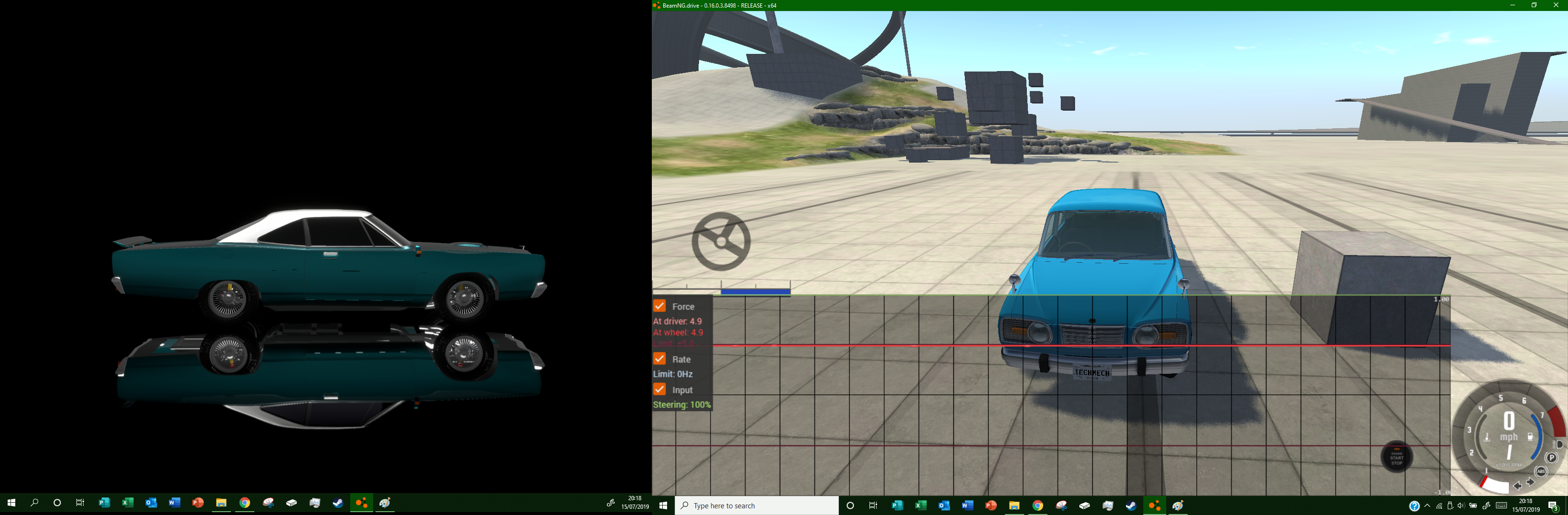 Logitech g920 turns all the way right    BeamNG