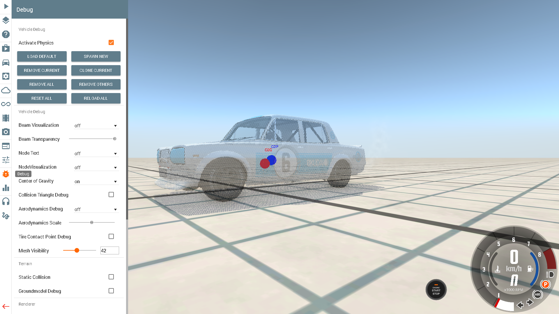 Ability To View Center Of Gravity Beamng