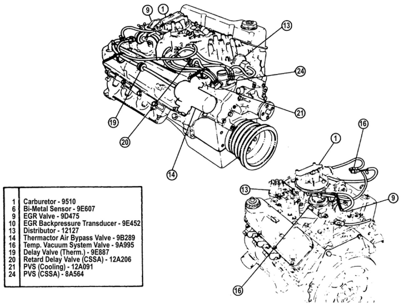 ford 351 cooling diagram